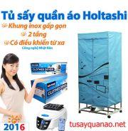 Máy sấy quần áo Holtashi 2016 vuông 2 tầng gấp gọn